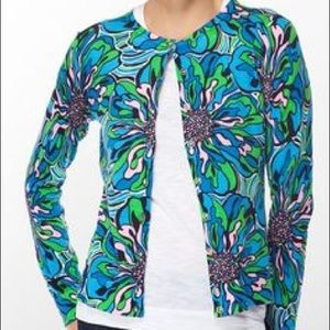 Lilly Pulitzer Button Down Cardigan, Size Medium